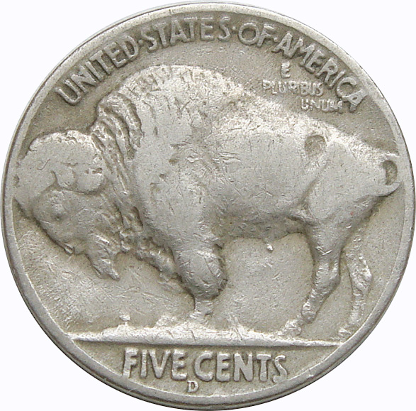 1937 Three Leg Buffalo Nickel
